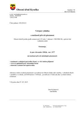 Vetřejná vyhláška Zifčák volny dopis 1 _3_