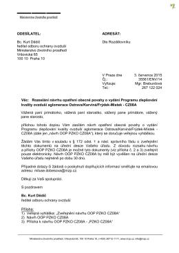 ODESÍLATEL: Bc. Kurt Dědič ředitel odboru ochrany