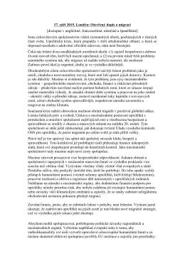 17. září 2015, Londýn: Otevřený dopis o migraci