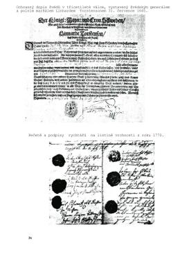 Ochranný dopis švédů v třicetileté válce, vystavený švédským