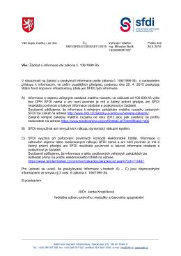 0430 dopis bez osobních údajů - Státní fond dopravní infrastruktury