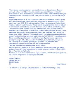 Vcera jsem si precetla dopis,ktery vam zaslali clenove n. obce z