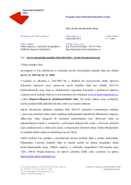 15 07 09 Dopis starostům - první návrh železničního JŘ 2016 v KHK