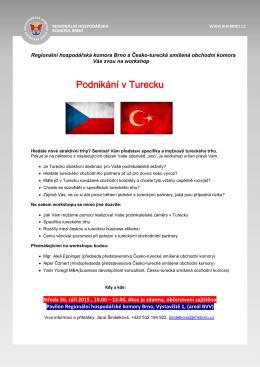 český dopis - Česko-turecká smíšená obchodní komora