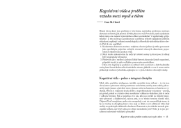 Kognitivní věda a problém vztahu mezi myslí a tělem