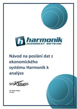 Návod na poslání dat z ekonomického systému Harmonik k analýze