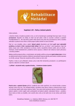 Kapitola č.24 – Nohy a bolesti páteře