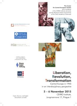 Liberation, Revolution, Transformation