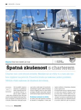 Špatná zkušenost s charterem - Yachting Revue