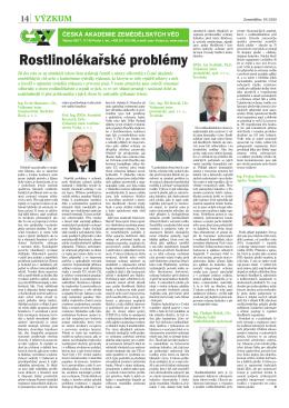 Rostlinolékařské problémy - Česká akademie zemědělských věd