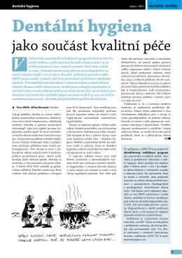 Milan Hanusek: Dentální hygiena jako součást kvalitní péče