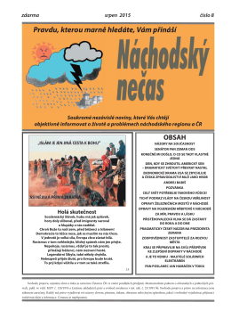 srpen 2015 - Náchodský nečas