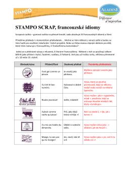 STAMPO SCRAP, francouzské idiomy
