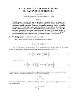 chyba deviace vektoru paprsku pentagonálního hranolu