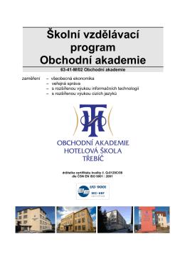 Školní vzdělávací program Obchodní akademie