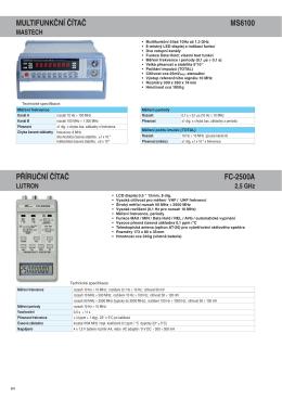 Katalog měřicích přístrojů Micronix 2015-16