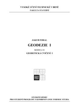 GEODEZIE I