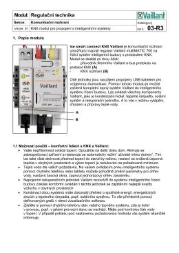 03-R3 KNX modul pro propojení s inteligentními