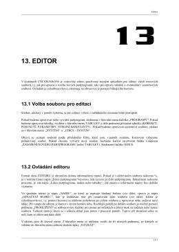 13. EDITOR