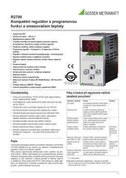 R2700 Kompaktní regulátor s programovou funkcí a