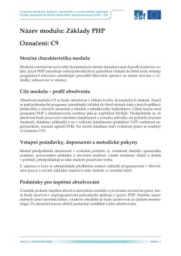 C9 – Základy PHP