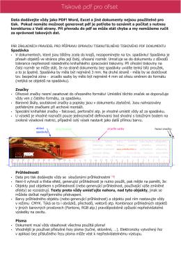 Tiskové pdf pro ofset