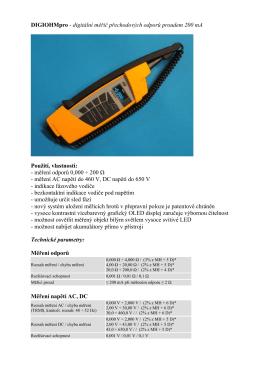 DIGIOHMpro - digitální měřič přechodových odporů