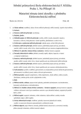 Střední průmyslová škola elektrotechnická Františka Křižíka
