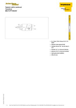 Teplotní měřicí zesilovač