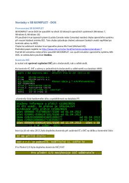 Novinky v SB KOMPLET - DOS