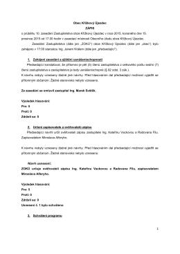 Obec Křížkový Újezdec ZÁPIS o průběhu 10. zasedání
