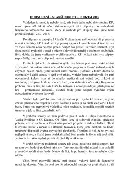 Hodnocení podzimu st.dor
