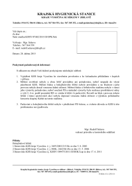 Informace 06/2015  - Krajská hygienická stanice kraje Vysočina
