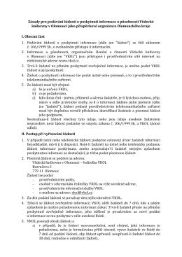 Informace dle z.č. 106/1999 Sb