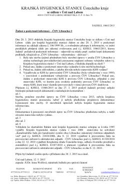 ČOV Libouchec I ve formátu pdf - Krajská hygienická stanice