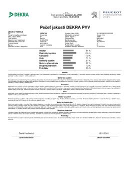 Zobrazit certifikát kvality Dekra
