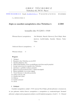 Zápis - Obec Těchobuz