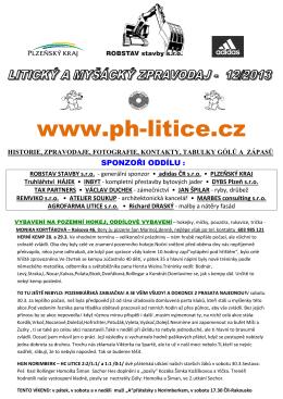 zpravodaj číslo 12/2013 z 4.IV.