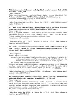 50. Žádost o poskytnutí informace – zaslání podkladů a