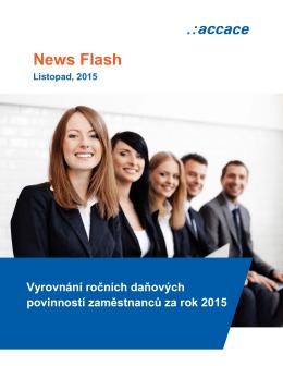 Vyrovnání ročních daňových povinností zaměstnanců za rok 2015
