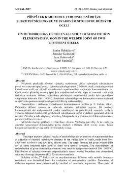 příspěvek k metodice vyhodnocení difúze substitučních prvků ve