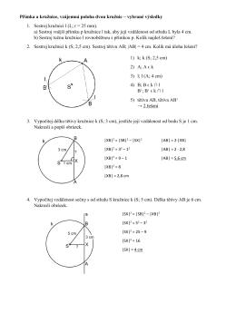 Přímka a kružnice, vzájemná poloha dvou kružnic – vybrané