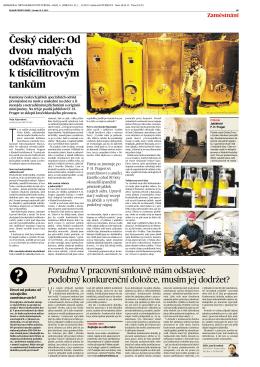 Český cider: Od dvou malých odšťavňovačů k