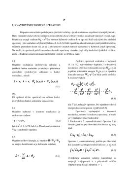 8.Kvantověmechanické operátory