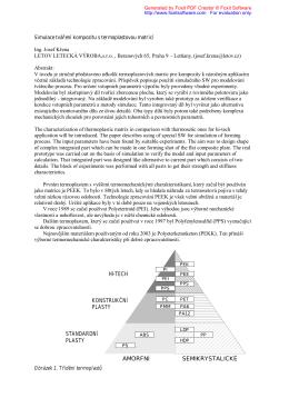 Simulace technologického procesu výroby kompozitového dílu