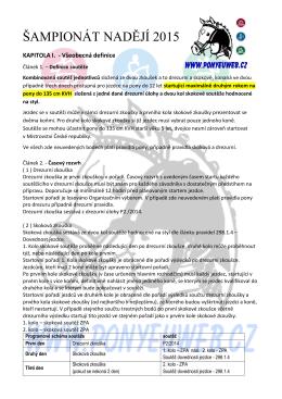 Úplné znění pravidel Šampionátu nadějí 2015 vč. kvalifikačního