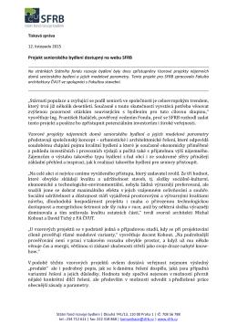 Vzorové projekty nájemního seniorského bydlení (12. 11. 2015)