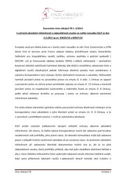 REV stanovisko 4_2015 - Unie obhájců České republiky