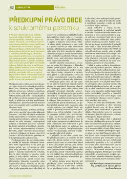 Předkupní právo obce k soukromému majetku