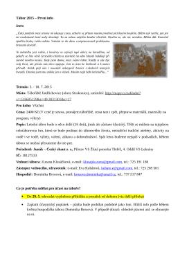 Tábor 2015 - 4.oddíl vodních skautek Lekníny Třebíč